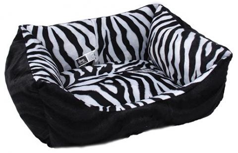 Sofa DOG FANTASY Zebra černé 70 cm