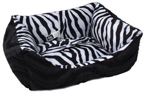 Sofa DOG FANTASY Zebra černé 60cm
