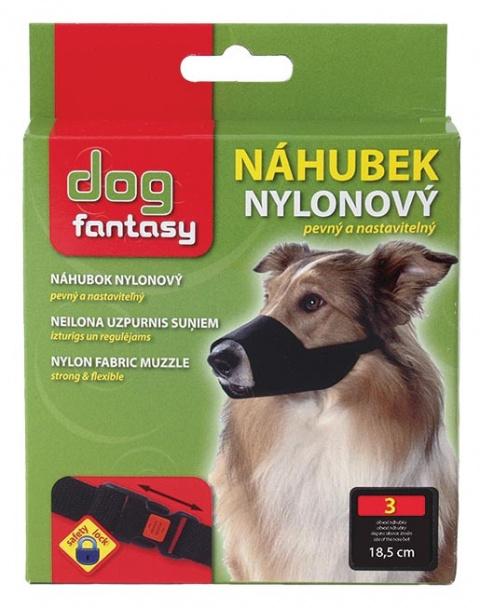 Náhubek DOG FANTASY nylonový černý č.3