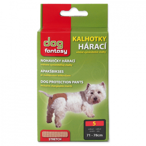 Kalhotky DOG FANTASY hárací béžové XXXL