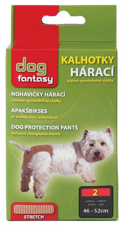 Kalhotky DOG FANTASY hárací béžové L
