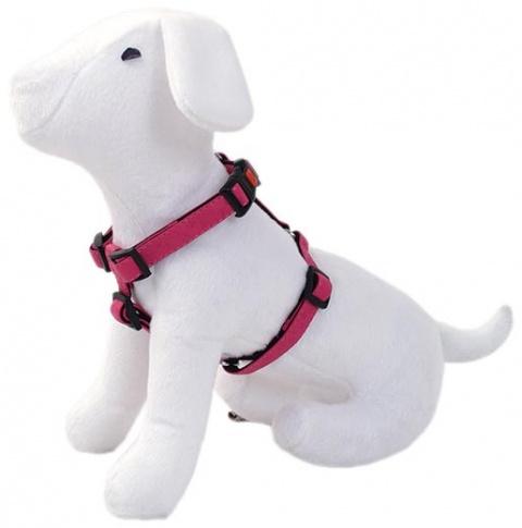 Postroj DOG FANTASY Classic růžový 35 - 50 cm