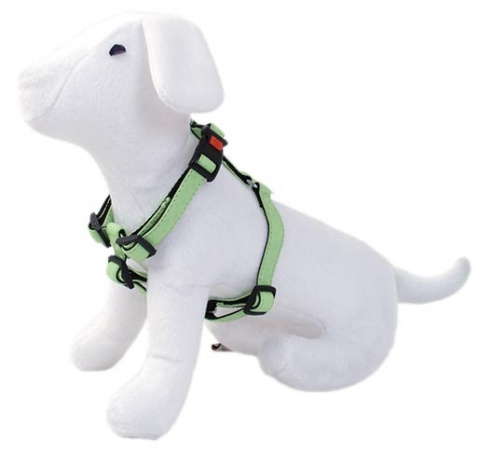 Postroj DOG FANTASY Classic zelený 35 - 50 cm