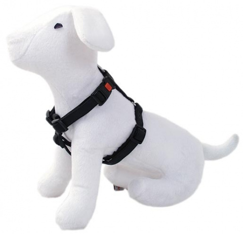Postroj DOG FANTASY Classic černý 35 - 50 cm
