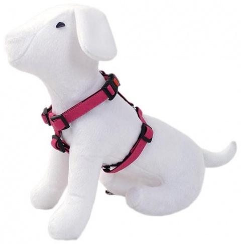 Postroj DOG FANTASY Classic růžový 25 - 40 cm