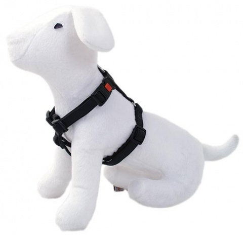 Postroj DOG FANTASY Classic černý 25 - 40 cm