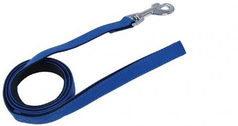 Vodítko DOG FANTASY Classic modré 120 x 2,5 cm