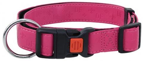 Obojek DOG FANTASY Classic růžový 40-55 cm