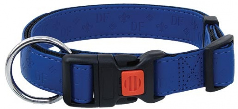 Obojek DOG FANTASY Classic modrý 40 - 55 cm