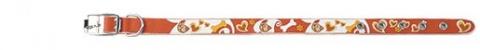 Obojek DOG FANTASY Star oranžový 42cm