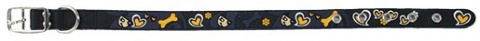 Obojek Dog Fantasy Star tmavě modrý 32cm