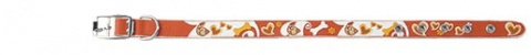 Obojek DOG FANTASY Star oranžový 32cm
