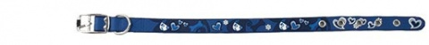 Obojek DOG FANTASY Star modrý 32cm