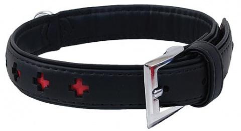 Obojek DOG FANTASY Design zdobený černý 37cm