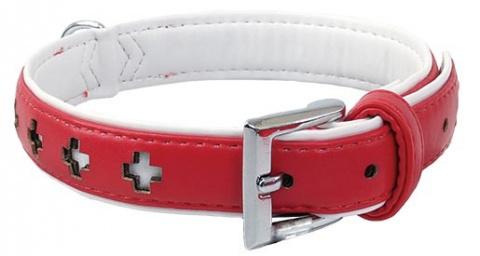 Obojek DOG FANTASY Design zdobený červený 32cm