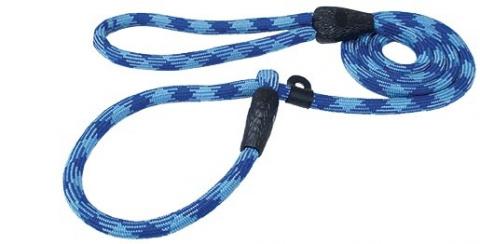 Vodítko DOG FANTASY Show A tm. modré - sv. modré 165 x 0,8 cm