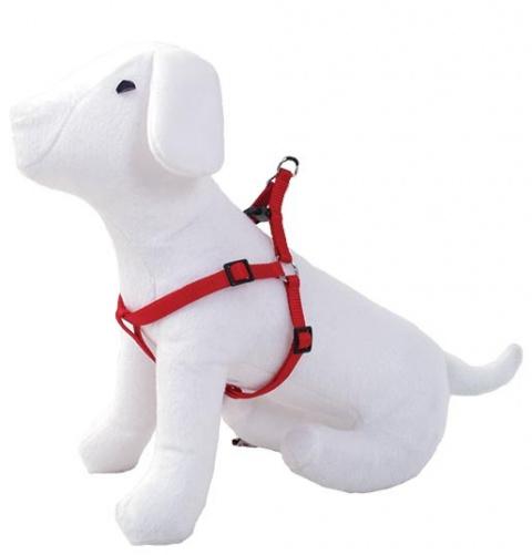 Postroj DOG FANTASY červený 35 - 60 cm