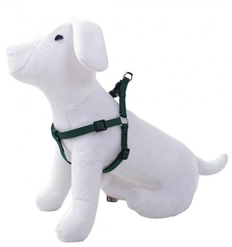 Postroj DOG FANTASY zelený 20 - 35 cm