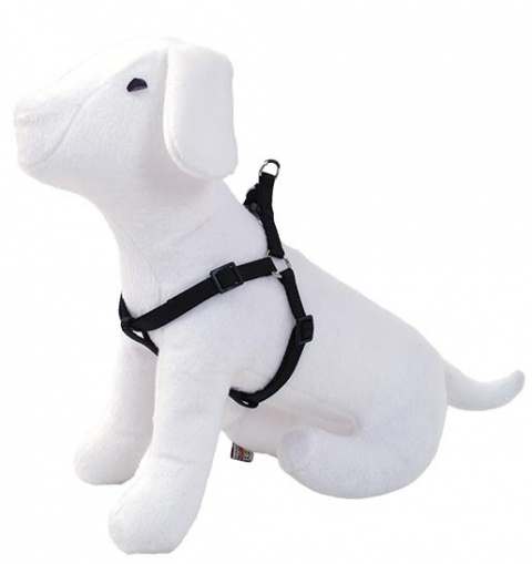 Postroj DOG FANTASY černý 20 - 35 cm