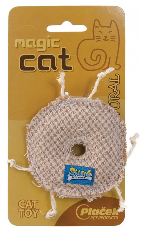 Hračka MAGIC CAT natural kolečko catnip