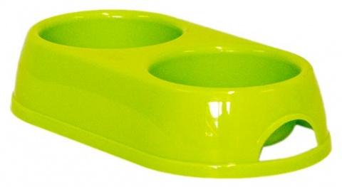 Dvojmiska MAGIC CAT plastová zelená