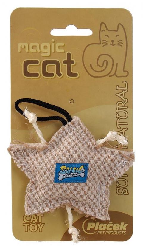 Hračka MAGIC CAT natural hvězdička catnip