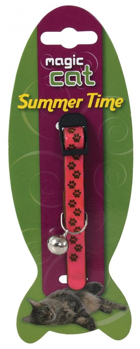 Obojek MAGIC CAT Reflexní růžový 18-30 cm