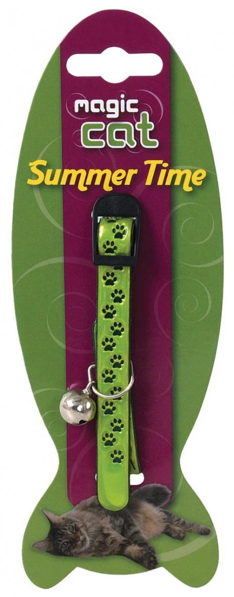 Obojek MAGIC CAT Reflexní zelený 18-30 cm
