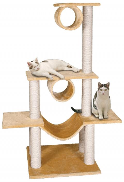 Odpočívadlo Magic Cat Iveta béžové 141cm title=