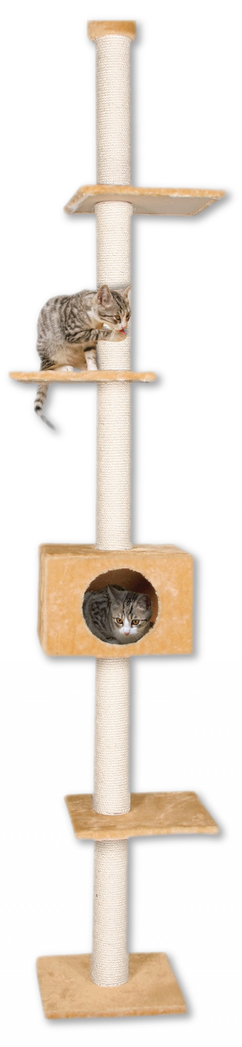 Odpočívadlo Magic Cat Adela béžové 285cm title=
