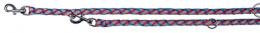 Vodítko pro psy Trixie reflexní, přepínací modro-červené 2m*12mm