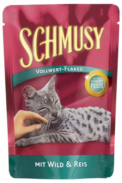 Kapsička Schmusy Flakes zvěřina+rýže