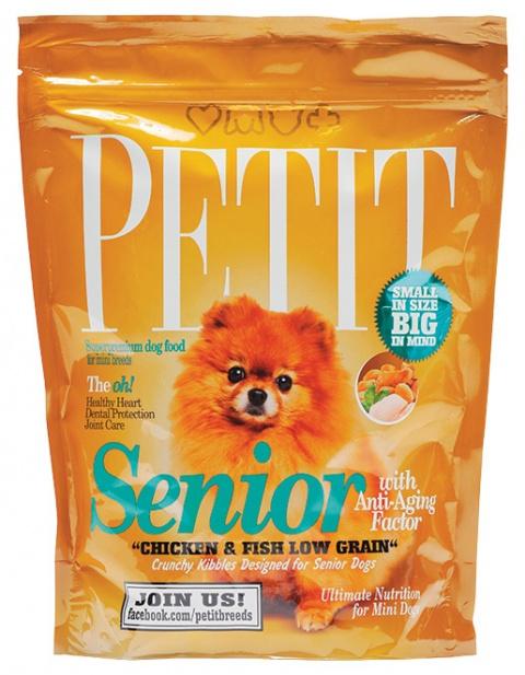 PETIT Dry Senior with Anti-Aging Factor Low Grain 300g