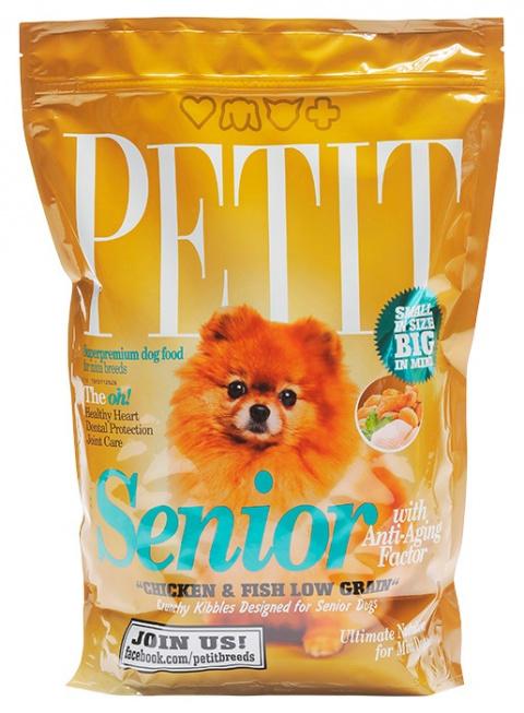 PETIT Dry Senior with Anti-Aging Factor Low Grain 1.5kg
