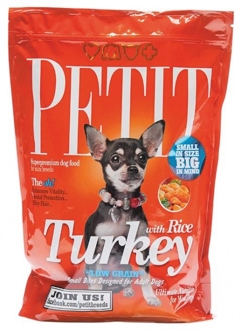 PETIT Dry Adult Turkey with Rice Low Grain 1.5kg