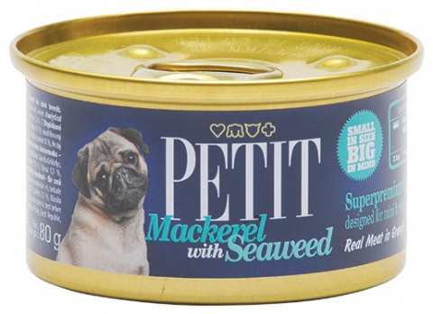PETIT Canned Mackerel with Seaweed 80g
