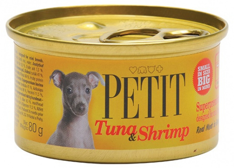 PETIT Canned Tuna & Shrimp 80g
