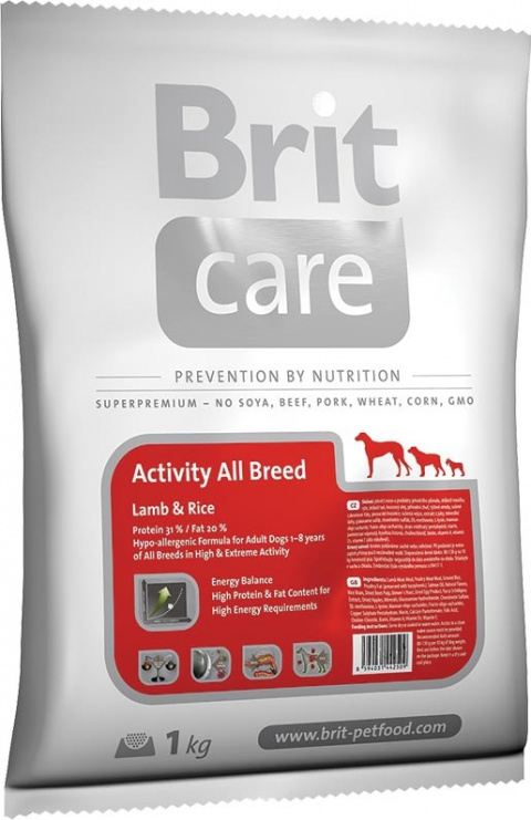 BRIT Care Activity All Breed Lamb & Rice 1kg