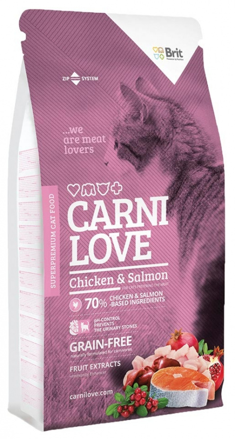 CARNILOVE Cat Chicken and Salmon 7kg