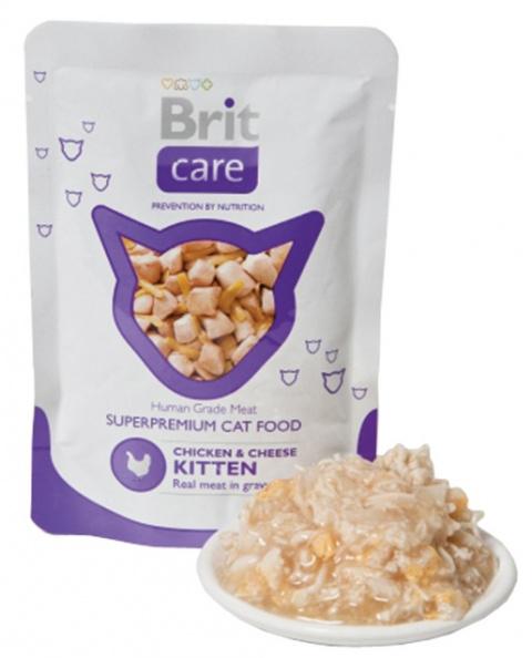 Kapsička BRIT Care kitten Pouches Chicken & Cheese 80g title=