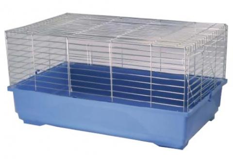 Klec Small Animals K100N chromová + modrá