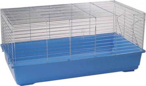 Klec SMALL ANIMAL K100S bílá + modrá