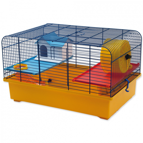 Klec Small Animals CH1 modrá + žlutá title=