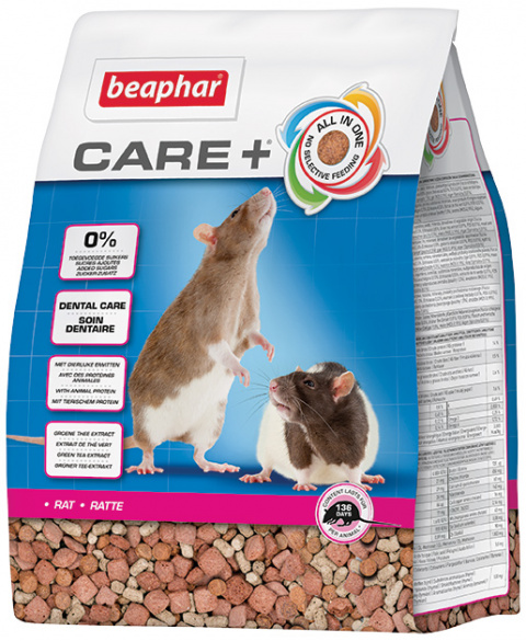 Krmivo Beaphar CARE+ Potkan 1,5 kg + Beaphar Care věrnostní karta + Beaphar Care nálepka title=