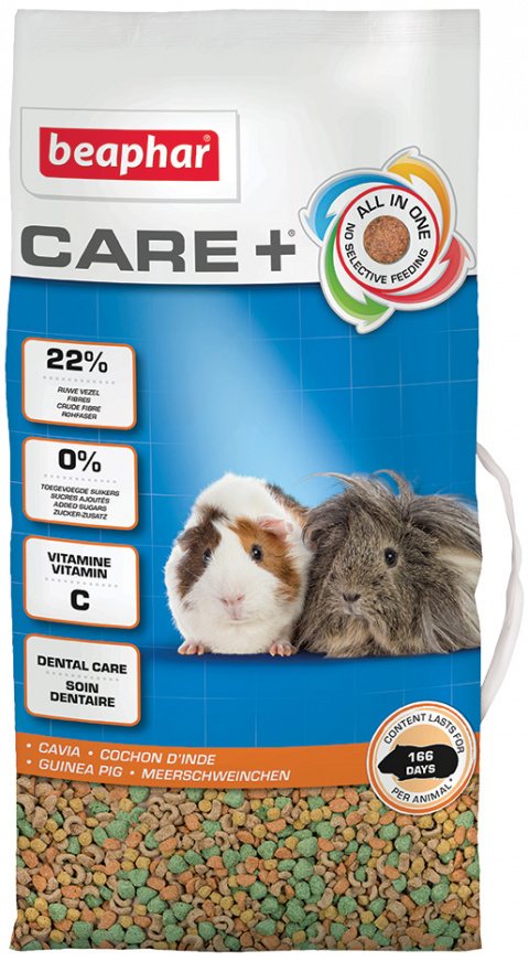 Krmivo Beaphar CARE+ Morče 5 kg + Beaphar Care věrnostní karta + Beaphar Care nálepka title=