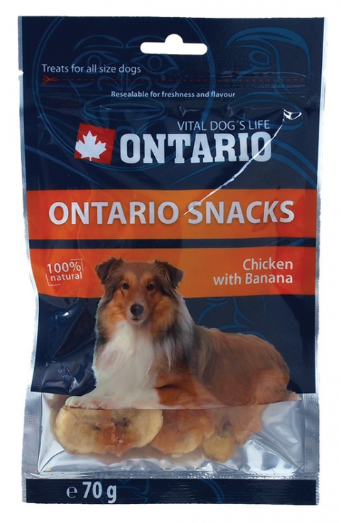 ONTARIO Snack Chicken with Banana 70g