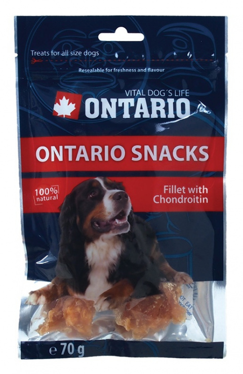 ONTARIO Snack Chicken Fillet with Chondroitin 70g