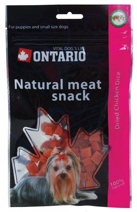 ONTARIO Snack Chicken Dice Small dog 70g