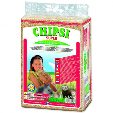 Jemný granulát JRS Chipsi super 3,4kg title=