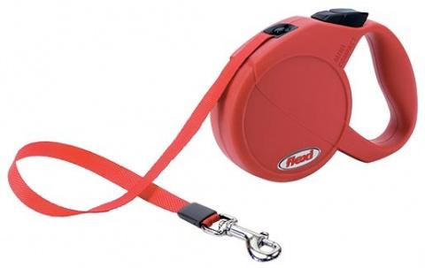 Vodítko FLEXI Compact Mini červené